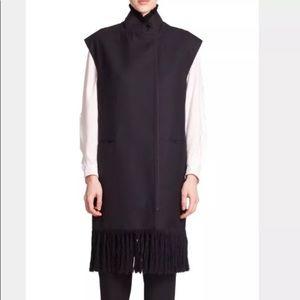 PHILLIP LIM fringe vest black long